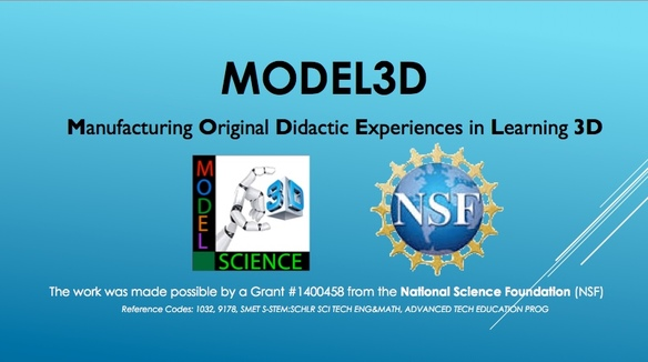 MODEL 3D: Manufacturing Original Didactic Experiences in Learning 3D
